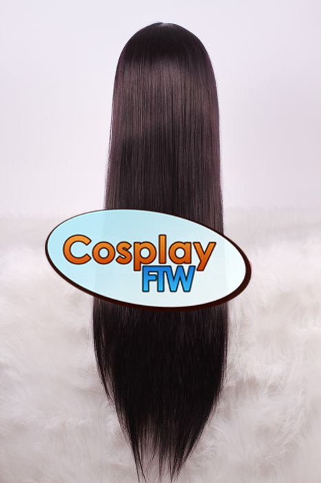 80cm Long Purple Black Cosplay Wig
