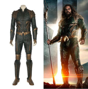Deluxe Justice League Aquaman 2017 Cosplay Costume