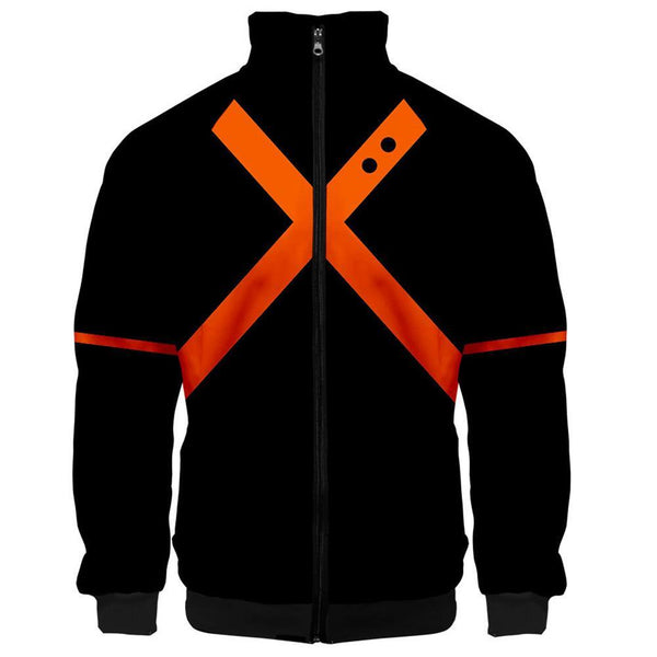 My Hero Academia Bakugo Katsuki Jacket / Stand-up Collar Sweater