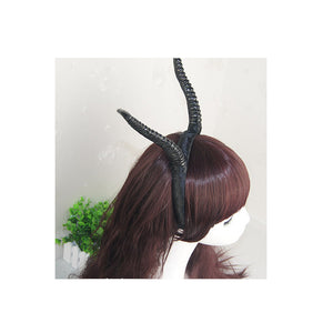 Black Antelope Horn Headband Cosplay