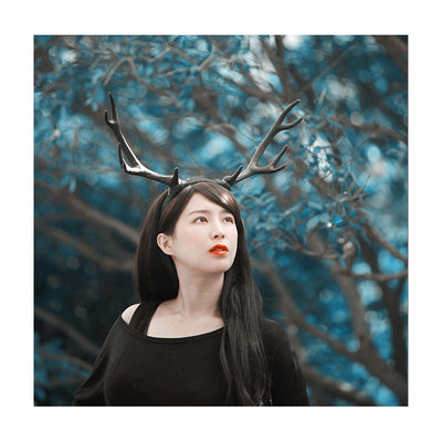 Black Antler Headband Cosplay Horns
