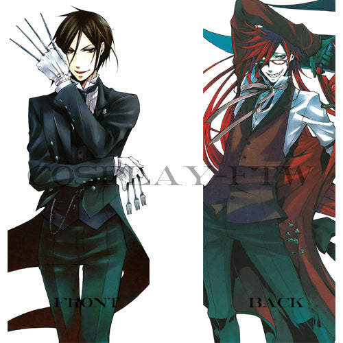 Black Butler / Kuroshitsuji- Sebastian Michaelis and Grell Sutcliff Pillow