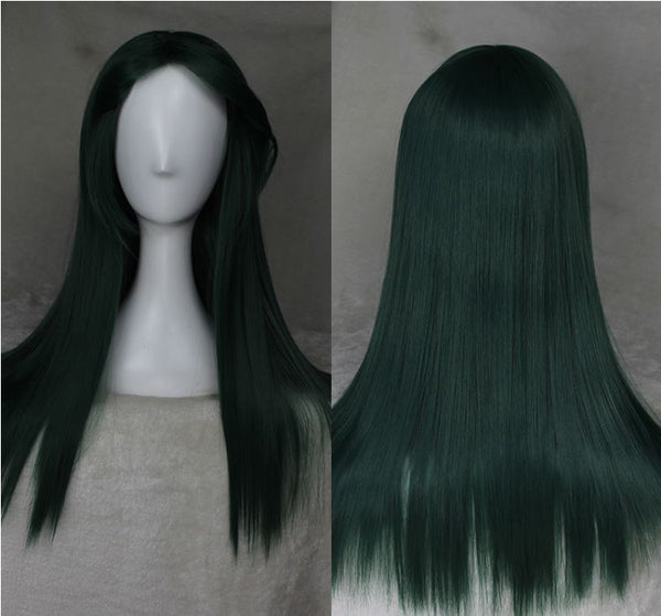 Deep Green 55cm Cosplay Wig