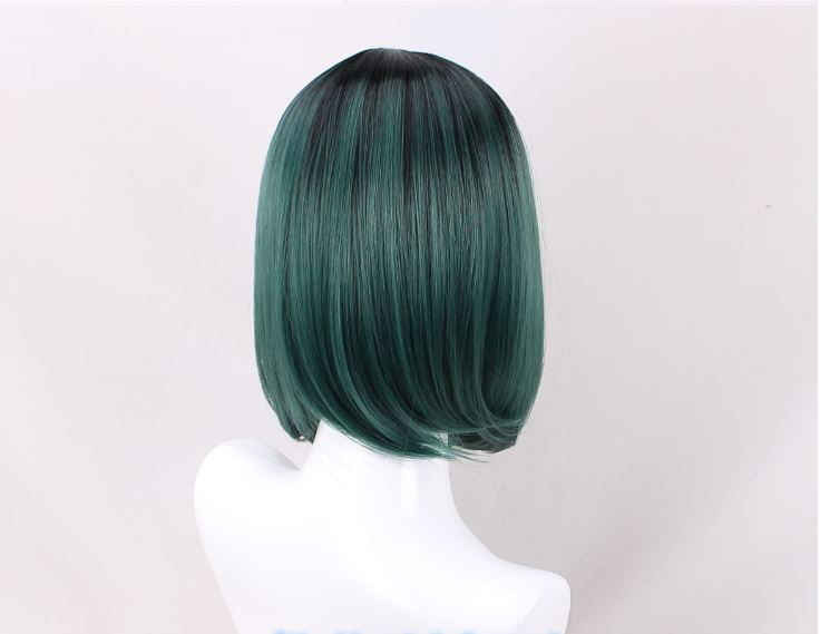 Deep Teal Gradient 30cm Bangless Cosplay Wig
