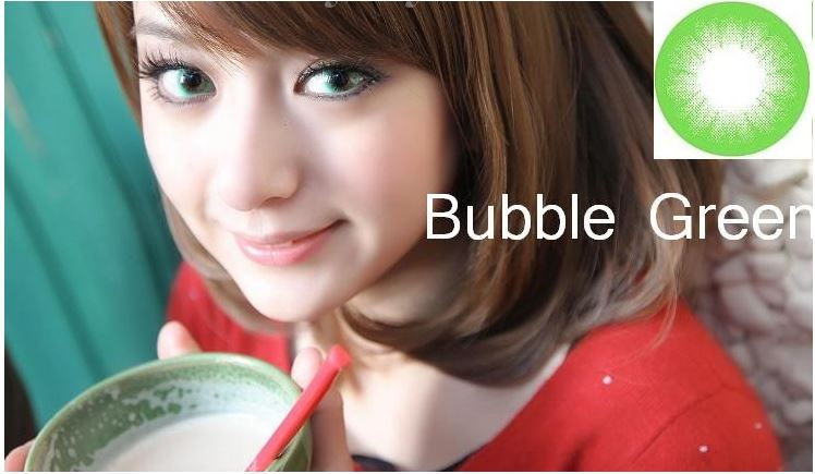 EOS Bubble Green Contact Lenses