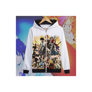 Fairy Tail Zip-Up Graphic Hoodie 2