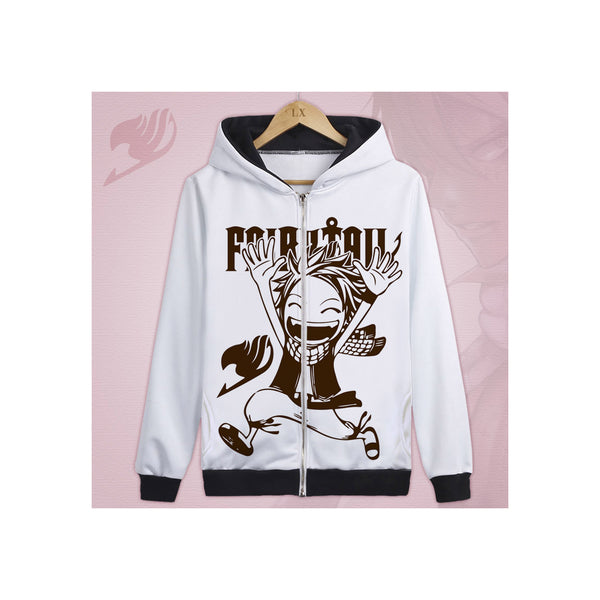 Fairy Tail Zip-Up Graphic Hoodie 1