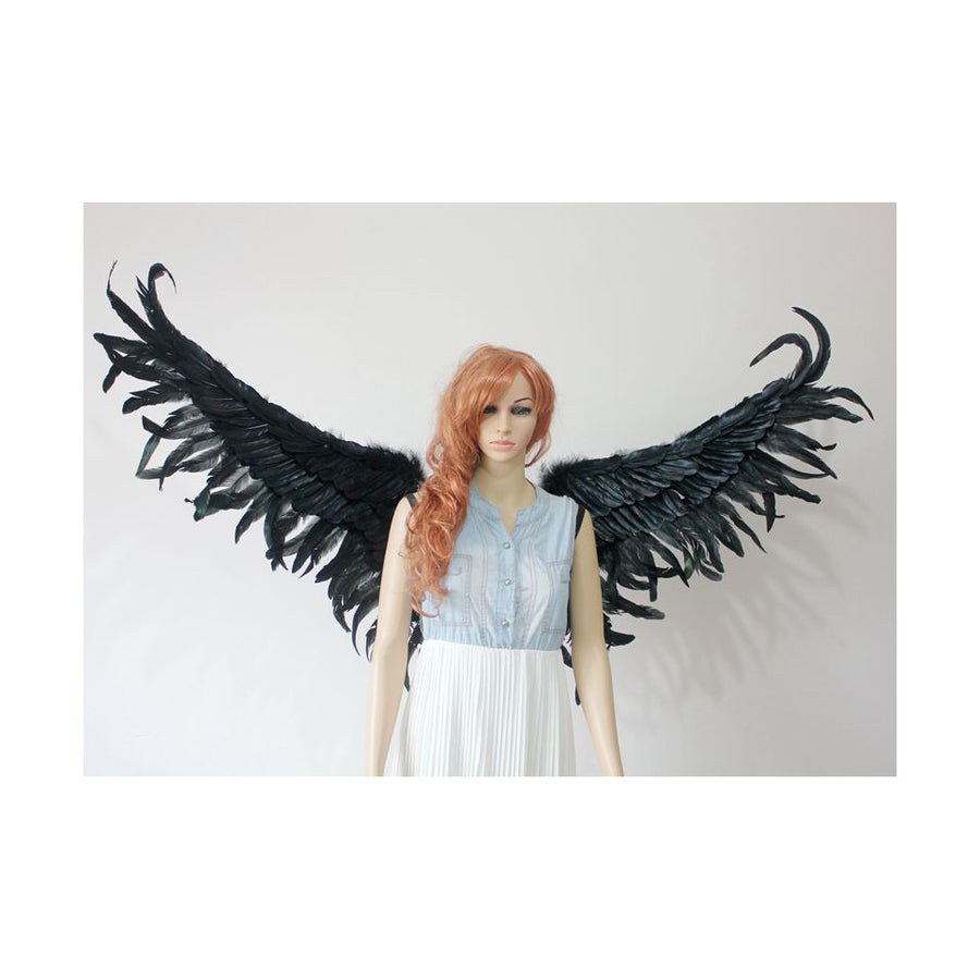 Black Fanned Demon Wings Cosplay