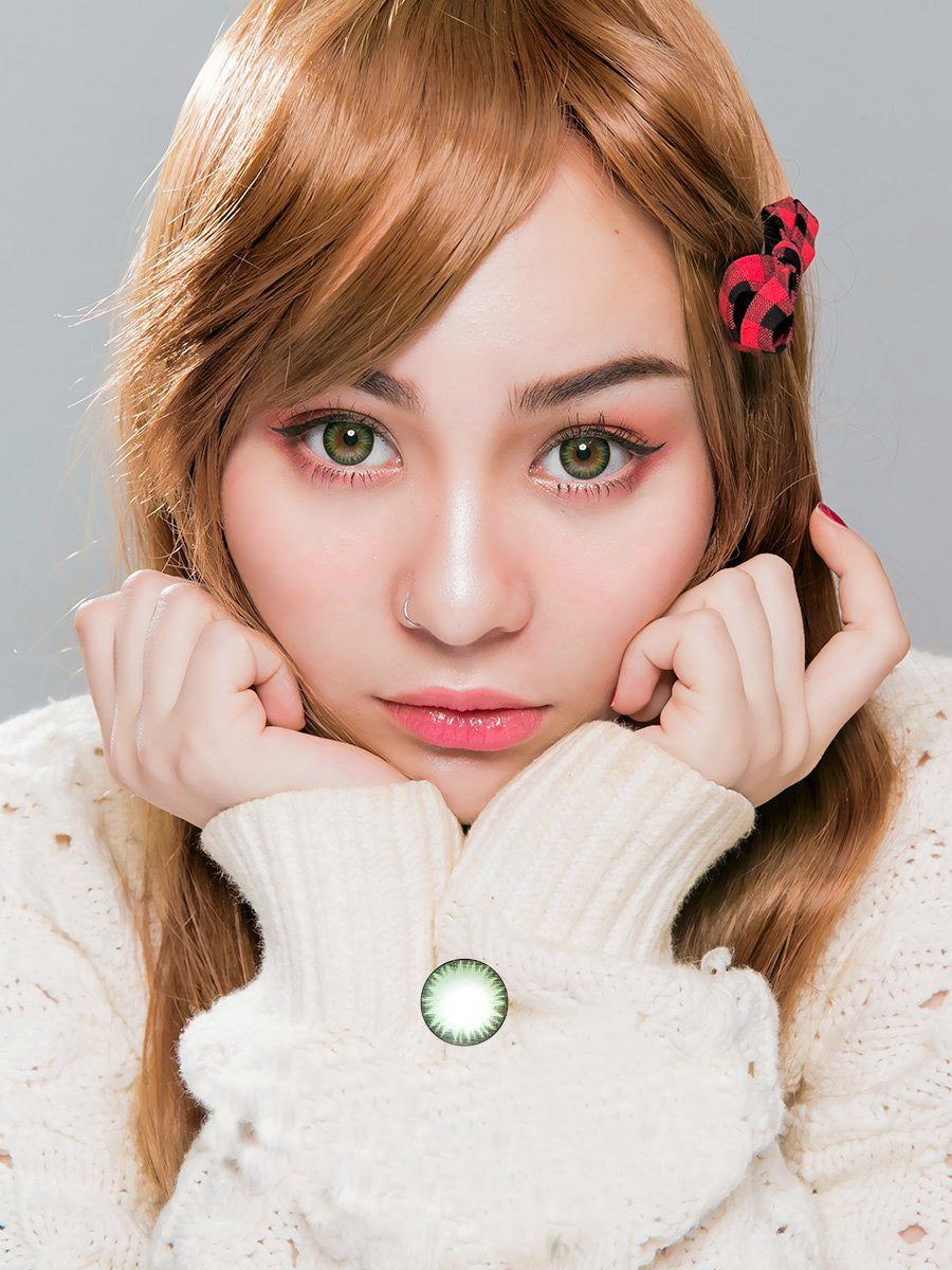 Geo Bella Green Colored Contact Lenses