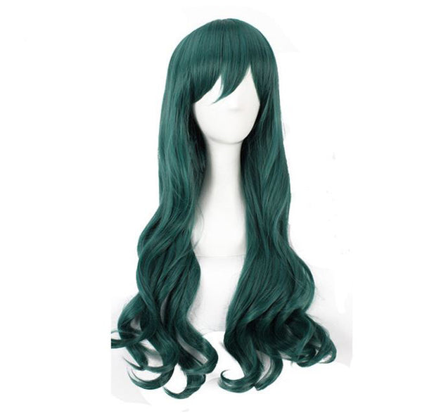 Ice Green 80cm Wavy Cosplay Wig