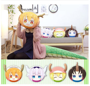 Miss Kobayashi's Dragon Maid Elma Face Plush Pillow