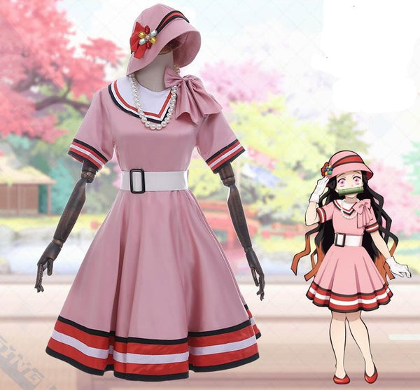 Demon Slayer / Kimetsu No Yaiba Nezuko Dress / Formal Dress Costume