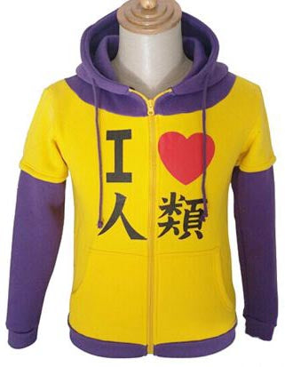 No Game No Life I Love Humanity Zip-up Hoodie