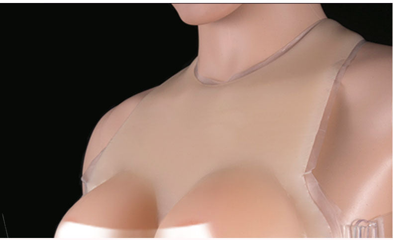 O-Neck Full Silicone Breast Bra D- J Cup Variants
