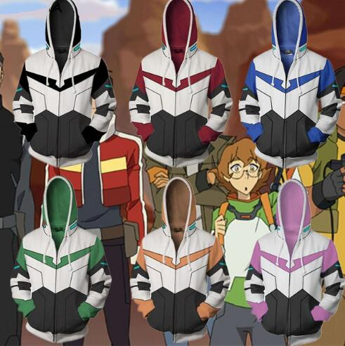 Voltron Cosplay Hoodie (Multiple Colors Available)