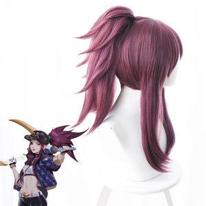 League of Legends K/ DA Popstars Akali Cosplay Wig