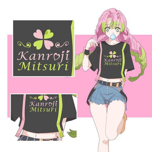 Demon Slayer Love Pillar Mitsuri Kanroji Street Wear T-Shirt