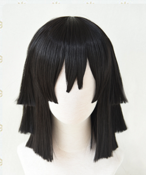 Demon Slayer Snake Pillar Obanai Iguro Cosplay Wig
