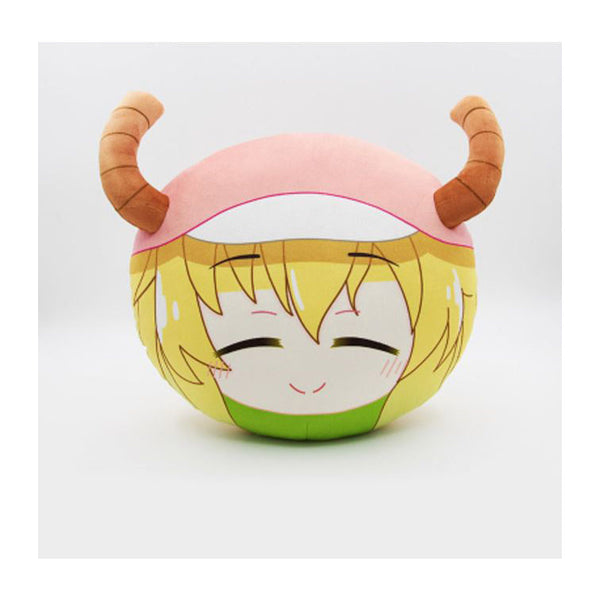 Miss Kobayashi's Dragon Maid Lucoa Face Plush Pillow