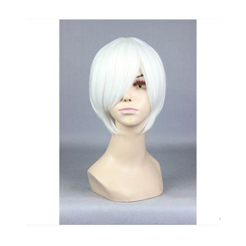 30cm Short White Cosplay Wig
