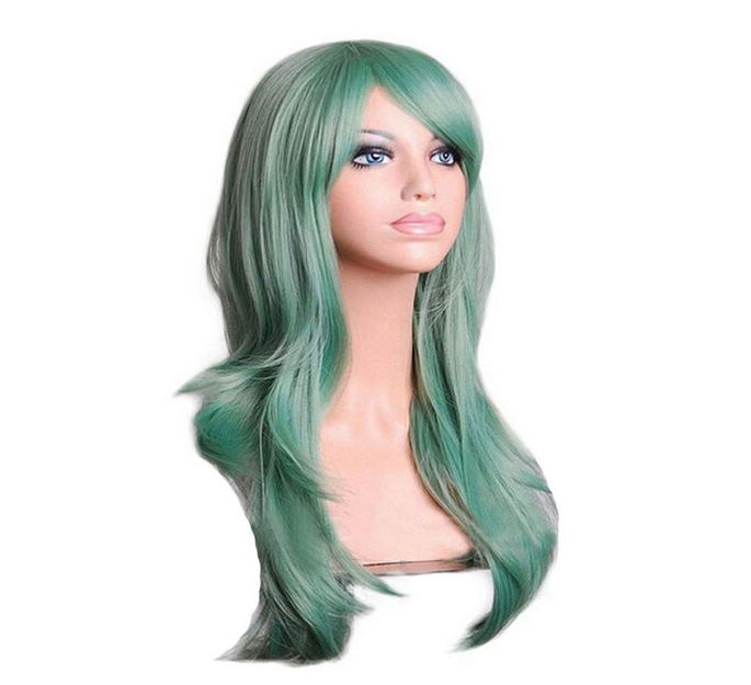 Smoky Green 70cm Wavy Cosplay Wig