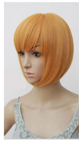 Sunny Orange 30cm Bob Cosplay Wig