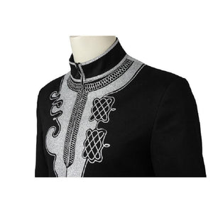 The Black Panther King T'Challa Embroidered Royal Coat