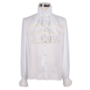Steampunk Victorian Men's Ruffled Dress Shirt