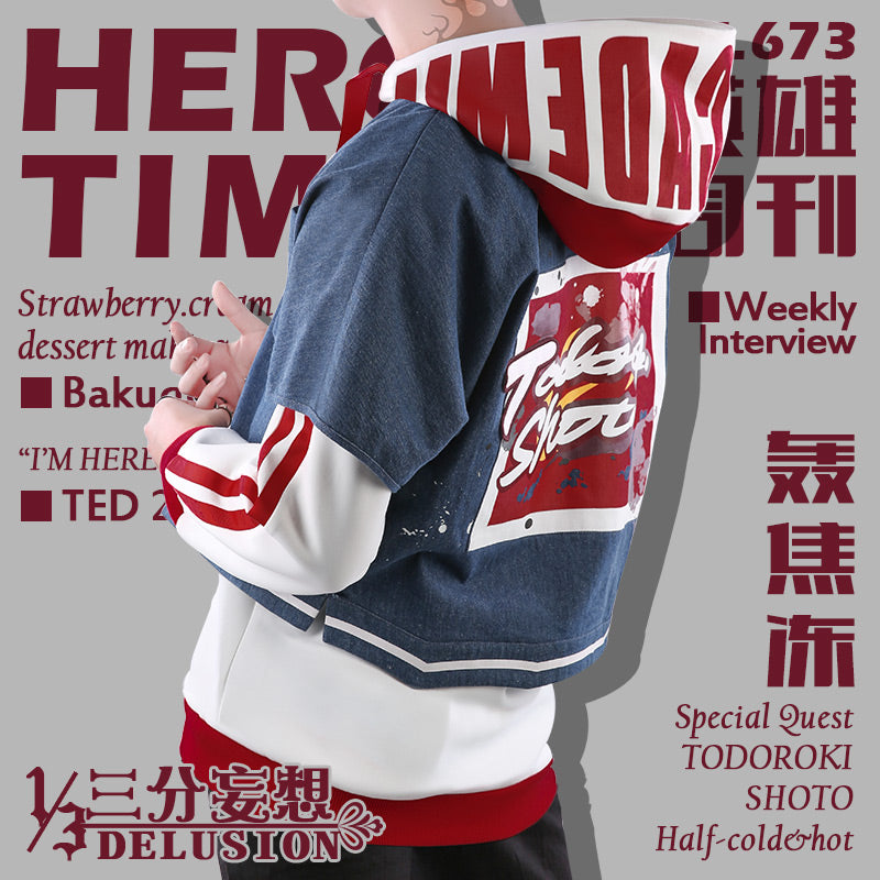 My Hero Academia Hero Time Magazine Casual Shoto Todoroki Costume