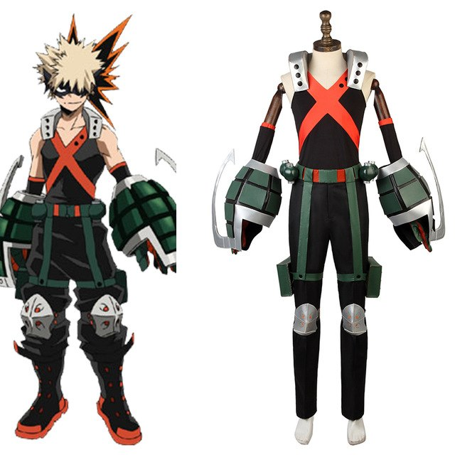 My Hero Academia Bakugo Katsuki Costume With Armor