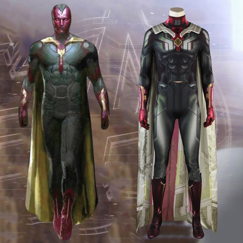 The Avengers Infinity War Vision Costume