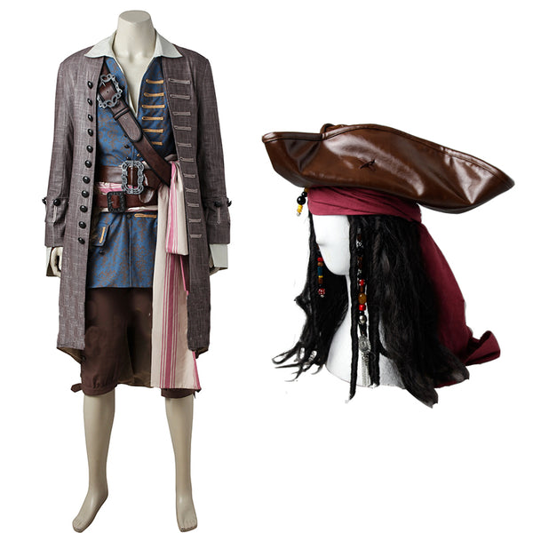 Pirates of the Caribbean Captain Jack Sparrow Costume