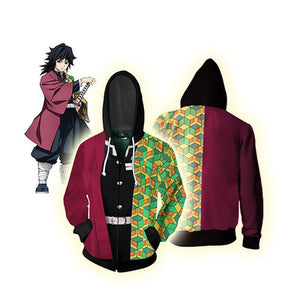 Demon Slayer 3D All Over Print Tomioka Giyuu Style Hoodie