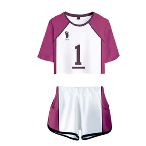 Haikyuu!! Team Crop Top and Shorts Set
