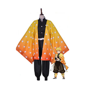 DEMON SLAYER / KIMETSU NO YAIBA Zenitsu Agatsuma Cosplay Costume