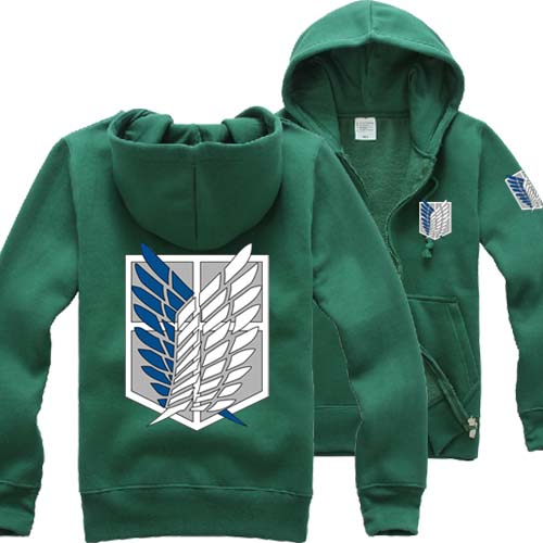 Attack on Titan Survey Corps Zip-Up Hoodie