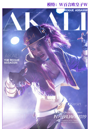 League of Legends K/DA  Akali cosplay costume