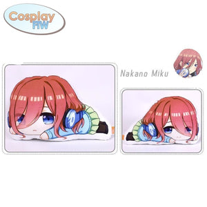 Anime The Quintessential Quintuplets Plush Pillows / Go Toubun No Hanayome Miku Nakano Standard