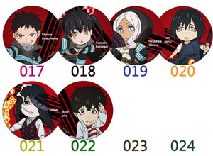 Fire Force Character Buttons / Anime Pins (22 styles)