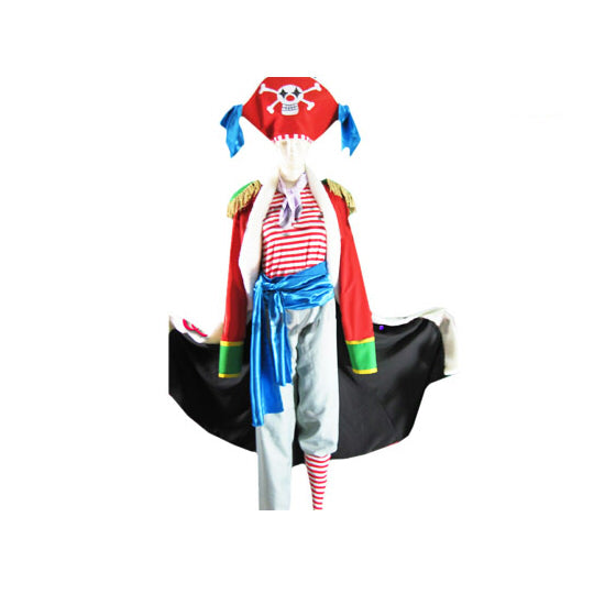 One Piece Buggy the Clown Cosplay Costume