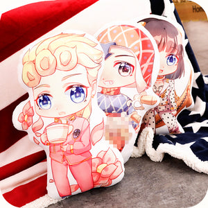 JOJO's bizarre adventure Giorno Giovanna GioGio Double-Sided Plush Pillow