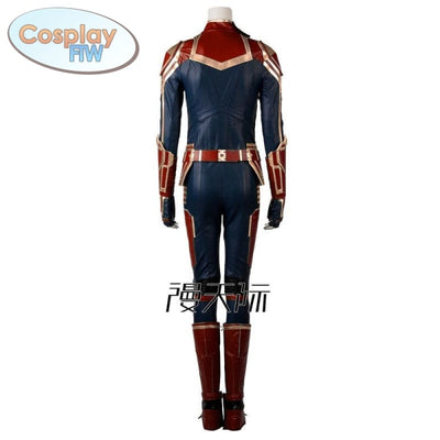 Captain Marvel Cosplay Costume / Ms. Carol Danvers Movie Costume