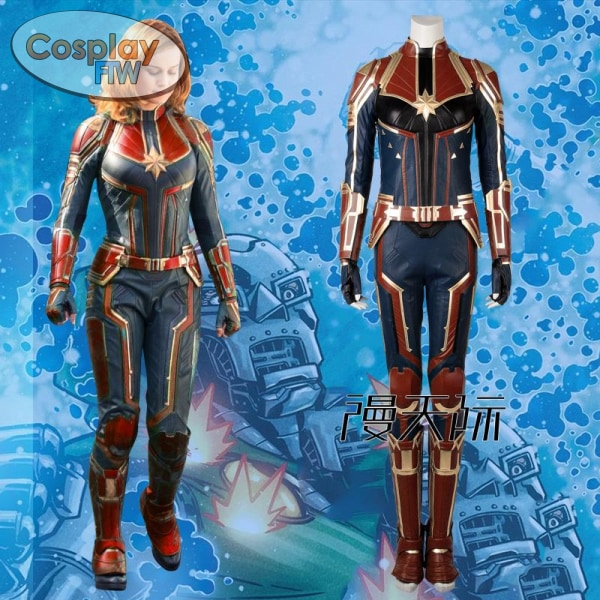Captain Marvel Cosplay Costume / Ms. Carol Danvers Movie Full Set L Costume