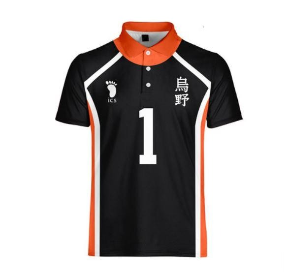 Haikyuu!! Karasuno Button Up Polo T-shirt (Multiple Styles)