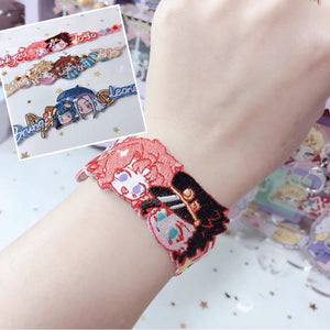 Jojo's Bizarre Adventure Embroidered Shipping Bracelets