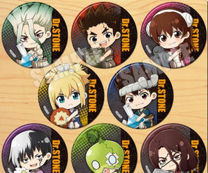 Dr.STONE Character Style Anime Pins (58 mm)