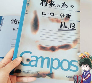 My Hero Academia Deku's Notebook ( 2 Styles Available Burnt and Pristine Versions)