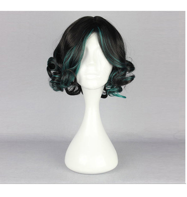 Curly Green Gradient Lolita Wig