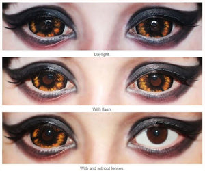 22mm Elf Orange Sclera Lenses