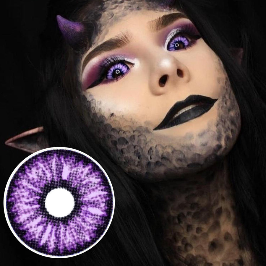 22mm Elf Purple Sclera Lenses